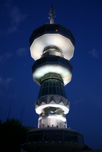 This is my Greece   OTE Tower is a 76-metre-tall tower located in the Thessaloniki International Exhibition Center in central Thessaloniki. The tower opened in 1966 and was renovated in 2005.