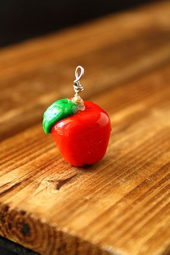 DIY Crisp Red Apple from The Polymer Clay Cookbook