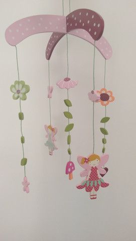 Fairy Wooden Mobile