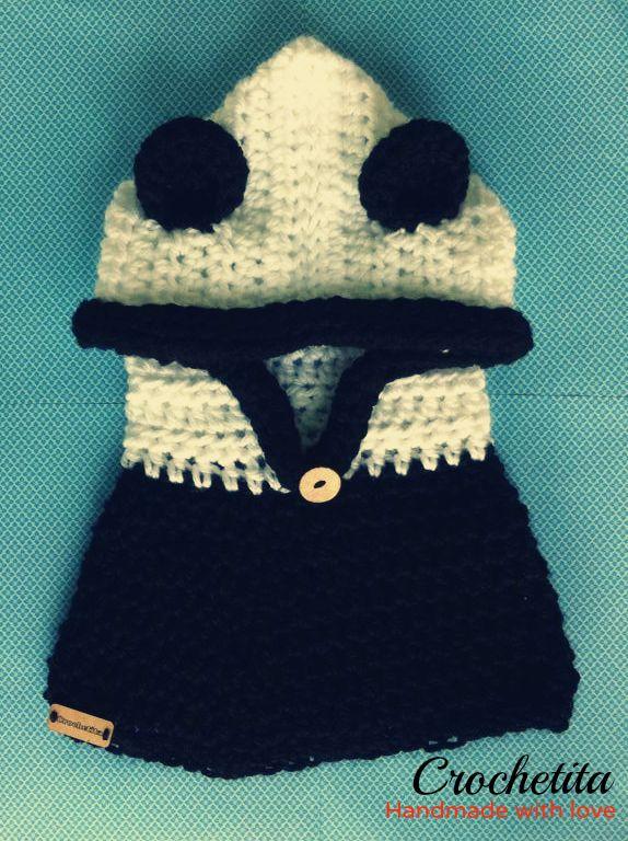Panda inspired hoodedcowl #crochetita