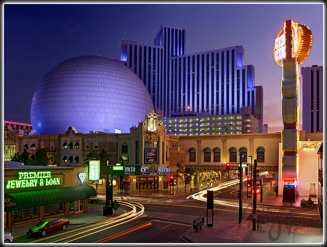 Downtown Reno At Night Oh The Places I Ve Gone Pinterest Photos And Night