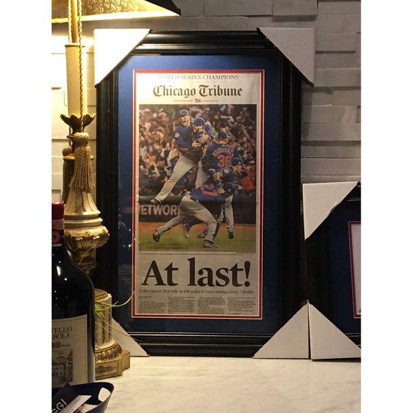 Chicago Tribune Nov. 3, 2016 Commemorative Framed Full-Newspaper  #ChicagoCubs #Cubs #FlyTheW #WorldSeries SportsWorldChicago.com
