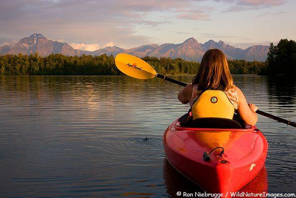 Kayaking on Finger Lake, Wasilla, Alaska