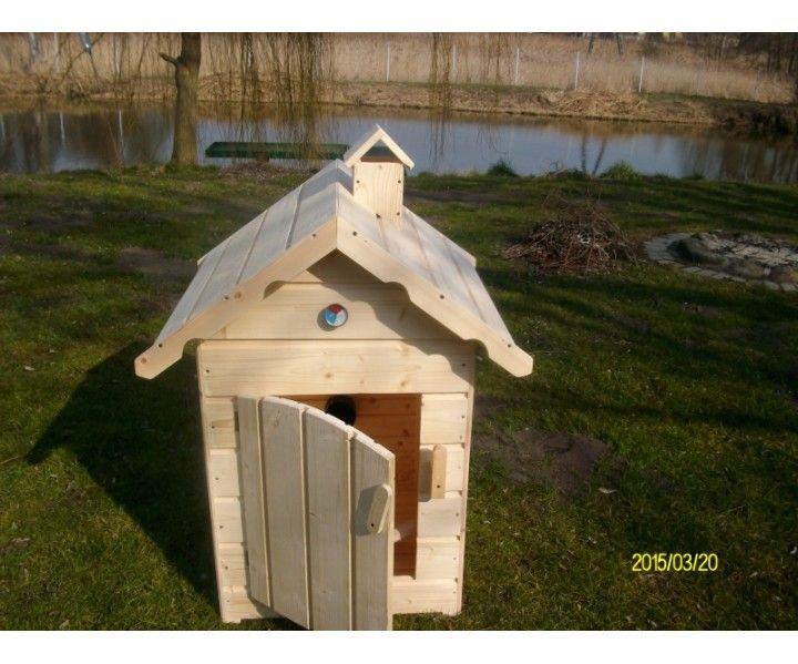 Wędzarnia ogrodowa z paleniskiem 60 - dwuspadowy dach