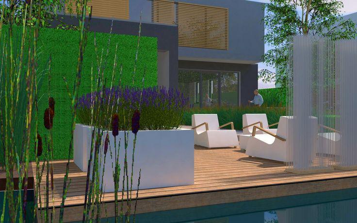 234 beste afbeeldingen over moderne tuinen op pinterest tuinen tuinontwerp en graven - Bassin tuin ontwerp ...