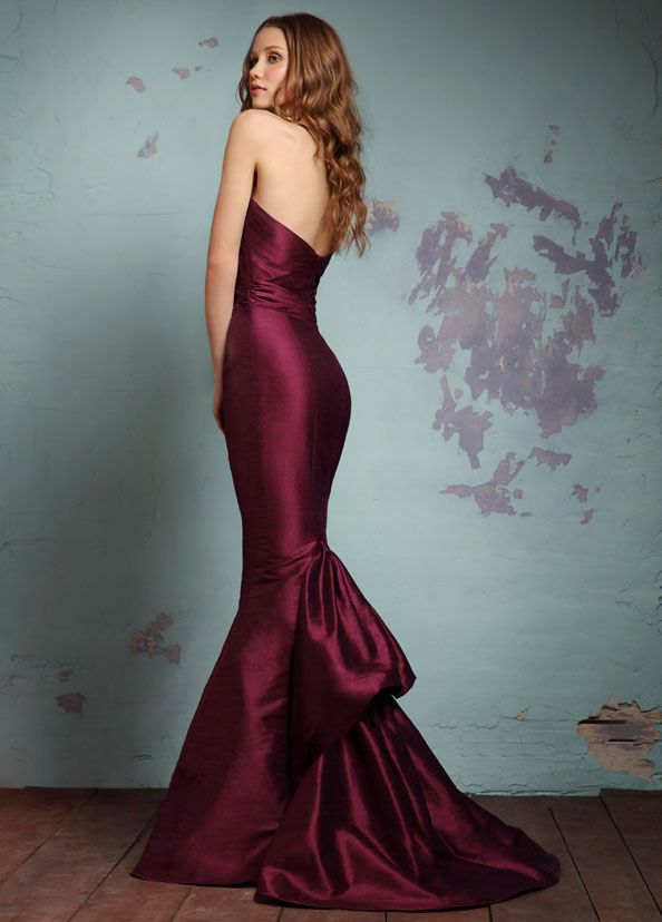 As much as i dislike the typical bridesmaids material love the cut and color of is one   Contemporary Bridesmaid Collection from Alvina Valenta1