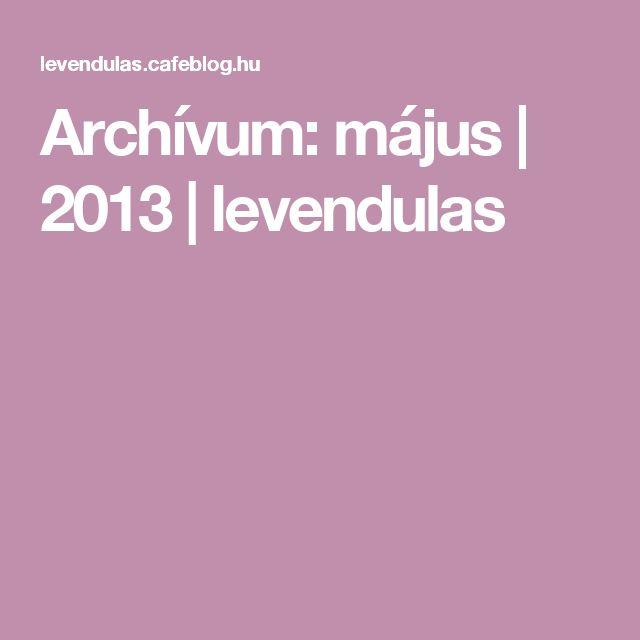 Archívum: május   2013   levendulas