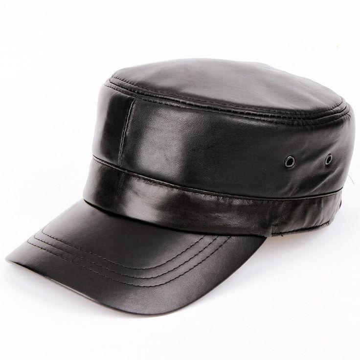2014 men Genuine leather Baseball Cap Biker Trucker outdoor Sports snapback Hats For Army hat wholesale