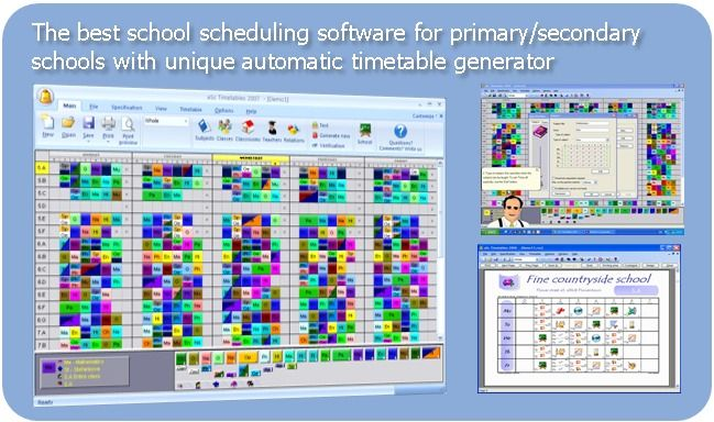 The best school scheduling software for primary/secondary schools with unique automatic timetable generator. I have been using this software for six years. It is user friendly and helps me to create a very complicated school schedule for an elementary language magnate school. I can't wait for the MAC version to be released!