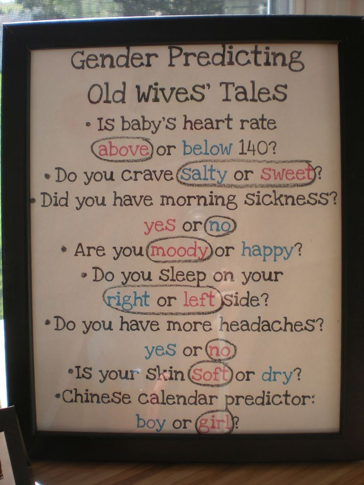 Gender Predicting Old Wives' Tales They were right!  It's a girl!