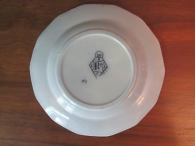"Antique Flow Mulberry 4 1/4"" Cup Plate ""Athens"" Pattern"