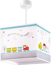 lámparas infantiles techo dalber tren colores