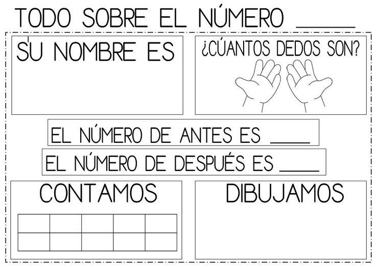 Con esta ficha podemos ir repasando todos los números que se hayan trabajado de manera previa en el aula de infantil.