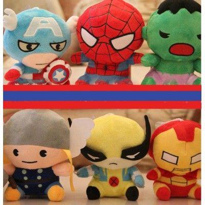 Cute The Avengers Plush Toys Set 6Pcs 18*12cm