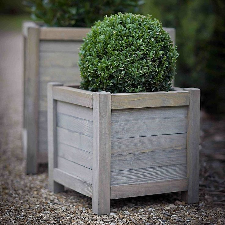 Stylish Wooden Planter.Perfect For Filling With Plants And Placing Outside  In Front Of A