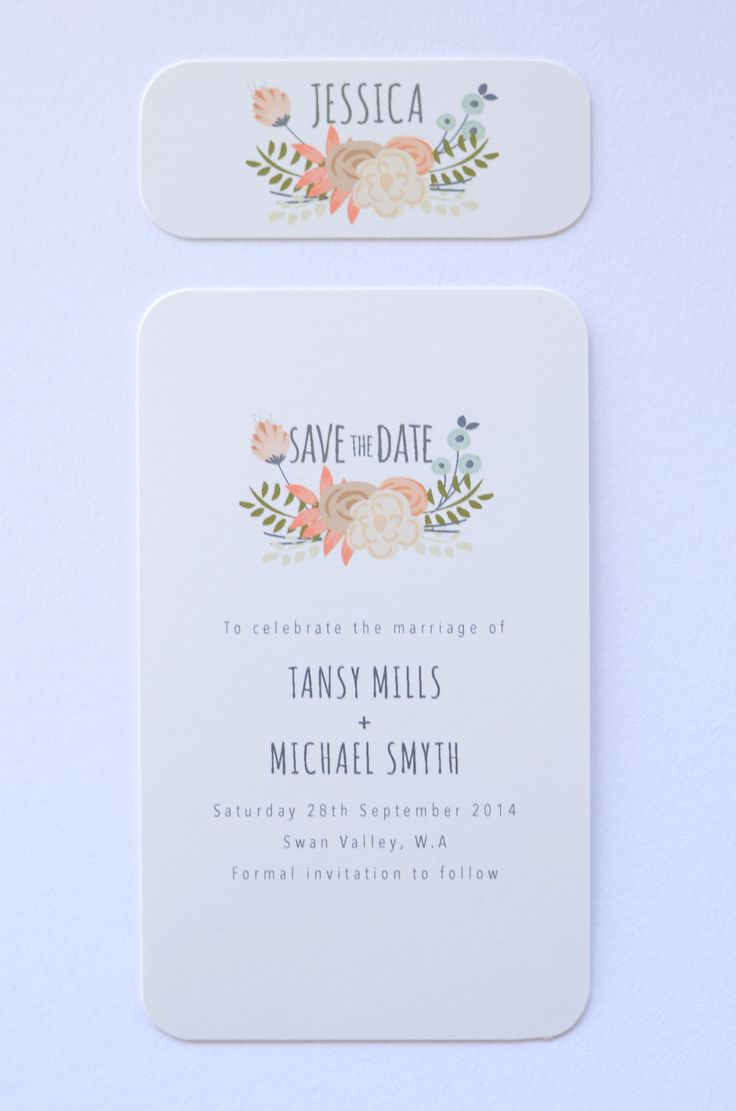 Spring Blossom - Save The Date & Name Card