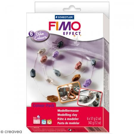 Coffret Fimo Effect - Couleurs glam - 6 pains de 57 g - Photo n°1