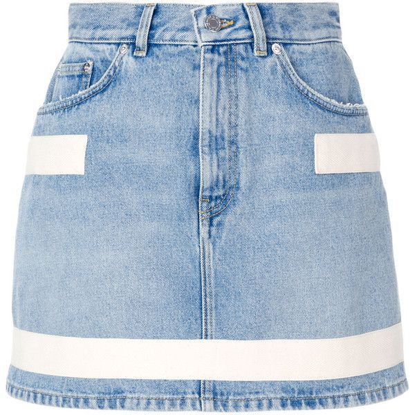 Givenchy Short Skirt With Straps Detail (9.650.480 IDR) ❤ liked on Polyvore featuring skirts, mini skirts, denim blue, givenchy skirt, givenchy, denim skirt, blue skirt and blue denim skirt
