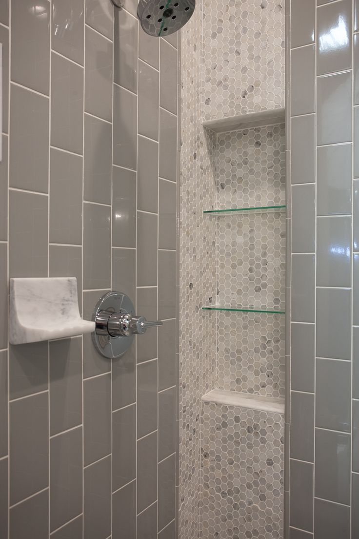 Hex Marble Mosaic And Subway Tile Mosaicmonday Bathroom