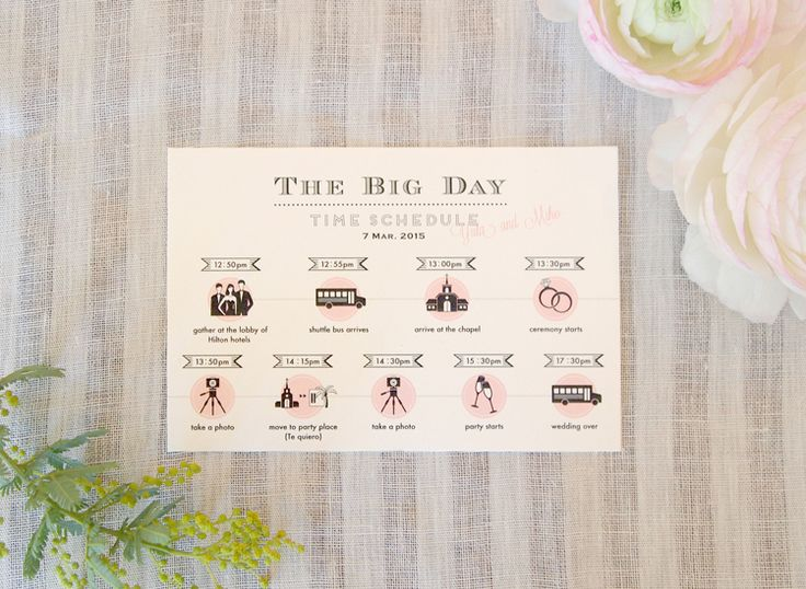 結婚式ペーパーアイテム ,タイムスケジュール, wedding paper item ,time schedule,
