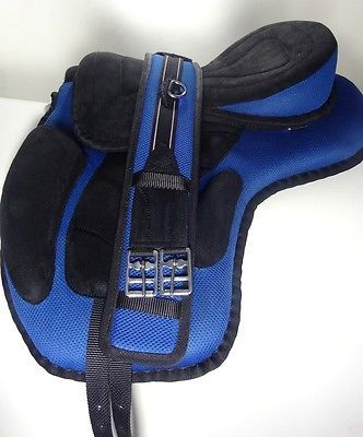 YESRD Fabulous Synthetic Treeless Saddle Stirrups Straps Polymer Stirrups