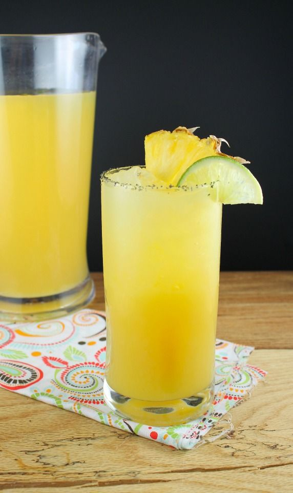 Pineapple Margaritas – A simple recipe that you can mix up in a pitcher and have ready for your guests to start sipping in minutes.