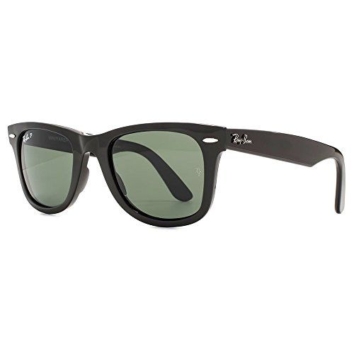 Ray-Ban Wayfarer Sunglasses in Black Green Polarised RB4340 601/58 50--104.3