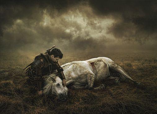 War Horse by Scott Black, via 500px: Wars Hors, Horses Die, L'Wren Scott, Horses Saddles, Digital Artists Lov, Fantasy Hors, War Horses, Sadness Horses, Scott Black