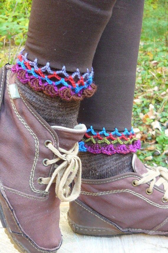 crochet edging on leggings or socks