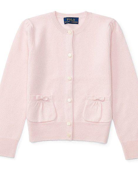 Cashmere Patch Pocket Cardigan - Girls 2-6X Sweaters - RalphLauren.com