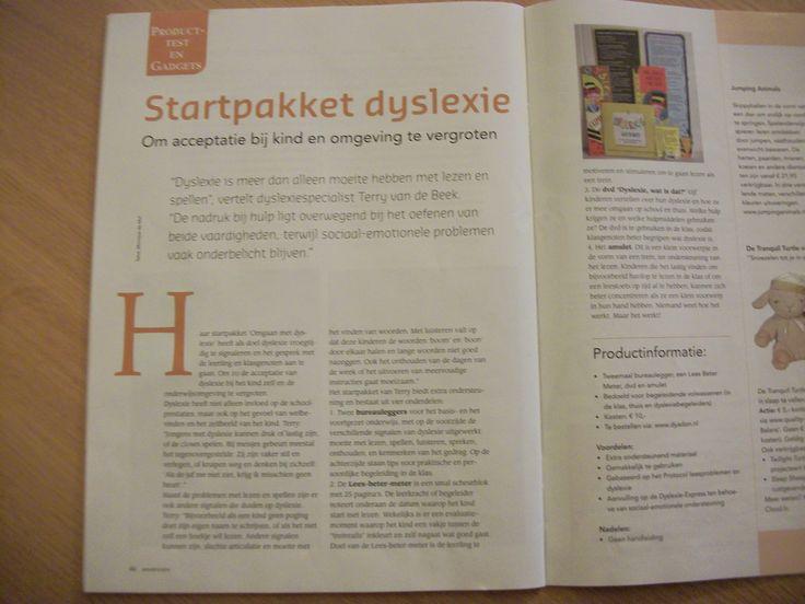 Recensie Startpakket Omgaan met Dyslexie! Balans Magazine nr.8