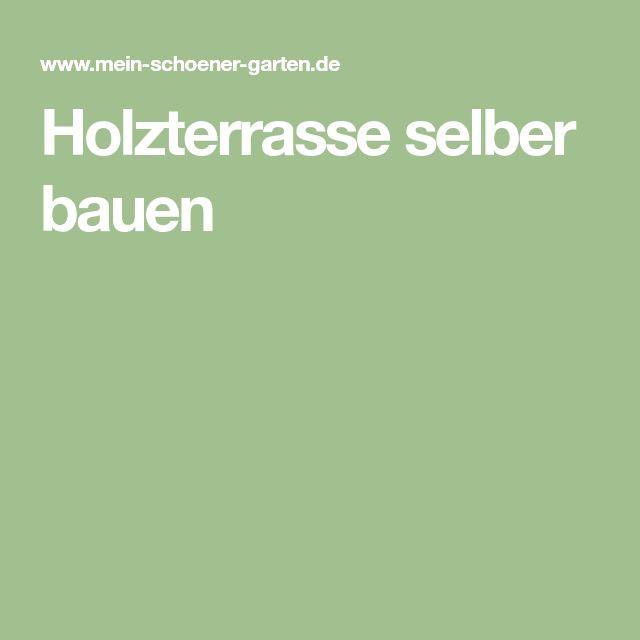 Holzterrasse selber bauen – Michael Schumacher