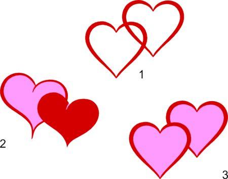 ces motifs de coeurs arrivent au bon moment, avec la Saint Valentin toute proche !: Heart Svg, Cameo Cut, Silhouettefr File, Silhouette Fre File, Svg Files, Cameo File, Images For, Double Heart, Cut File