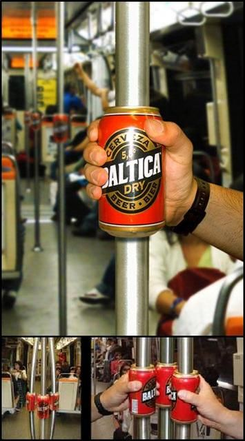 Baltica Beer - Guerilla marketing on the subway.