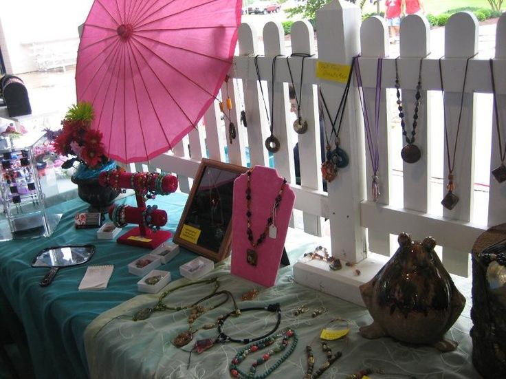 Craft Fair Booth Ideas | Craft Fair Booth Ideas on Craftsy The picket ... | Jewelry - Display