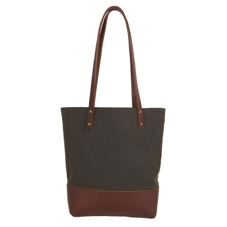 Sarah Baily | George Tote Bag - Brown leather / waxed cotton