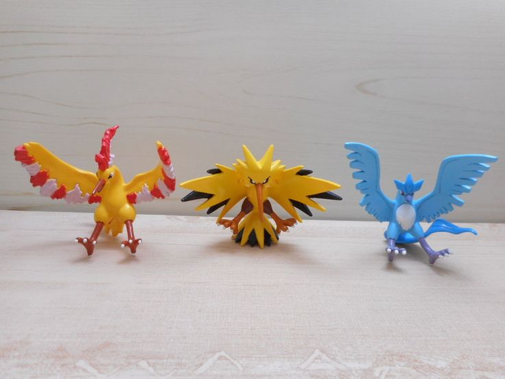Pokemon Tomy Articuno Zapdos Moltres Figure Monster Collection Toy Set #TOMY