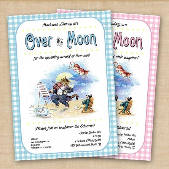 nursery rhyme baby showerparty invitation