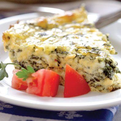 Cindy Francis's Crustless Quiche #recipe #easy