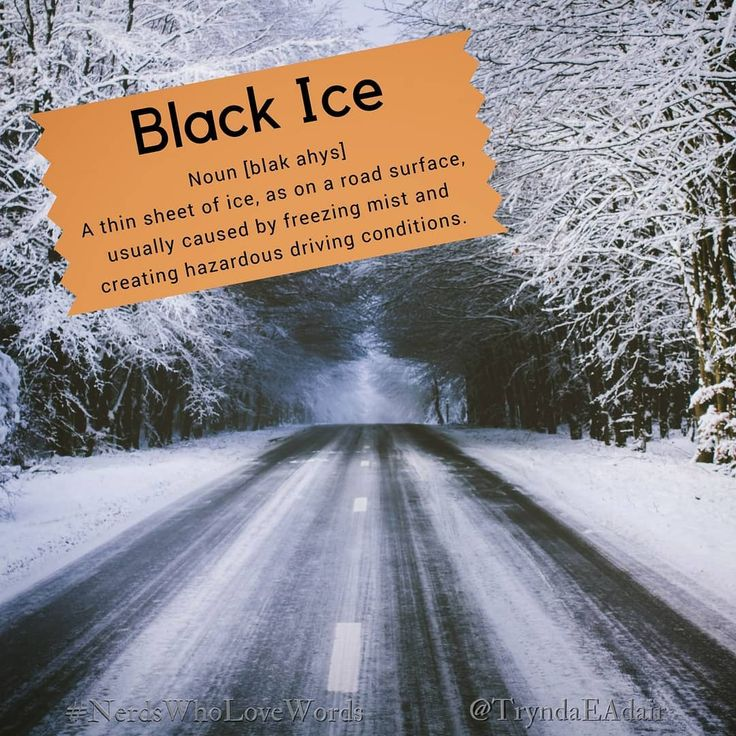 #BlackIce - #NerdsWhoLoveWords #WordOfTheDay. Photo by #AlbertDehon on #Unsplash.    #Noun [blak ahys]  Definition: A thin sheet of ice, as on a road surface, usually caused by freezing mist and creating hazardous driving conditions.    #Words  #language  #LanguageLover  #EnglishLanguage  #WordsMatter  #WriterThings  #WordLover  #English  #Words   #WordNerd   #englishVocabulary  #WinterSeason   #winterThings   #BeCarefulOutThere