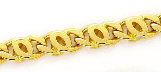 Foto 2, Pfauenauge-Goldkette Tigerauge-Goldkette massiv 18K/750, K2372
