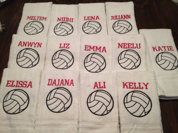 Personalized volleyball towel by LindaKaysCreations on Etsy, $10.00