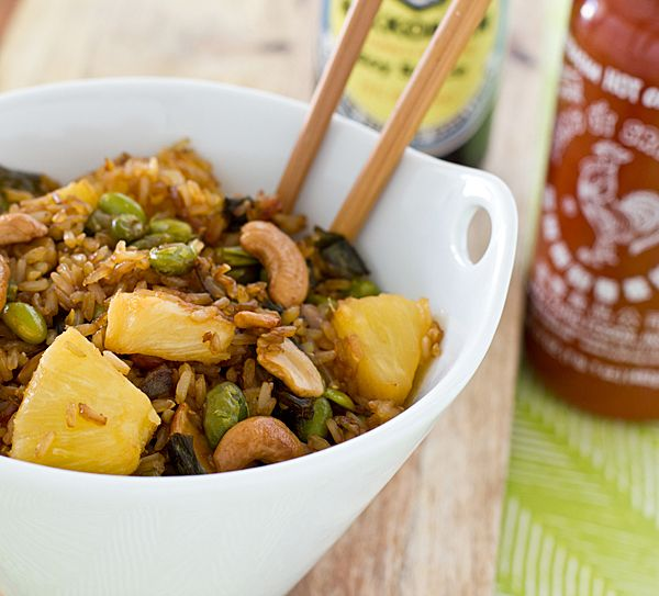 Recipe   Baked Fried Brown Rice (Yes, baked fried rice!)