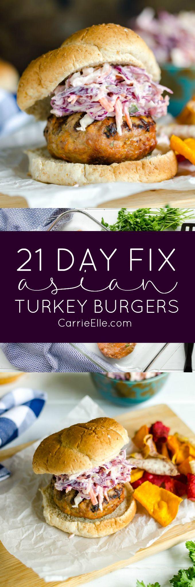 21 Day Fix Asian Turkey Burgers