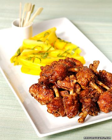 Thai Fried Chicken Wings with Hot-and-Sour Sauce and Salted Mango Recipe