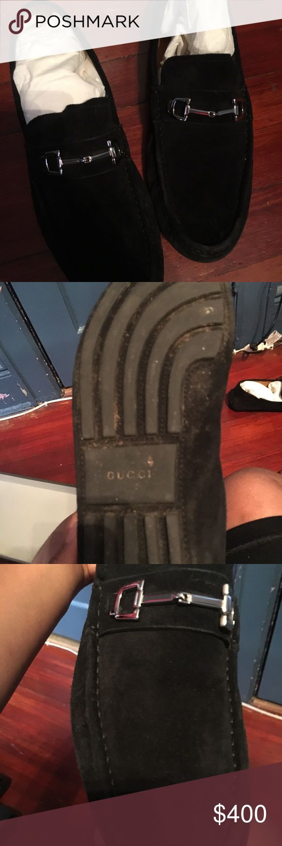 A pair of Gucci shoes It is black suede loafers great condition great dress shoes to go out in if u really want it contact me for any verifications at 347-613-1280 Gucci Shoes Loafers & Slip-Ons
