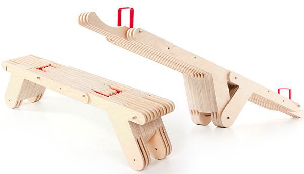 Seesaw bench makes transforming furniture look good     Designbuzz : Design ideas and concepts