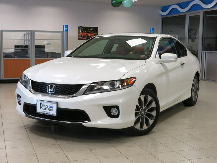This white Honda Accord coupe is such a stunner! It's custom interior seats makes it even more sizzling.