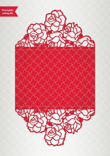 Digital template laser cut wedding invitation printable