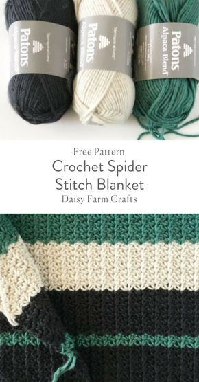 Free Pattern - Crochet Spider Stitch Blanket